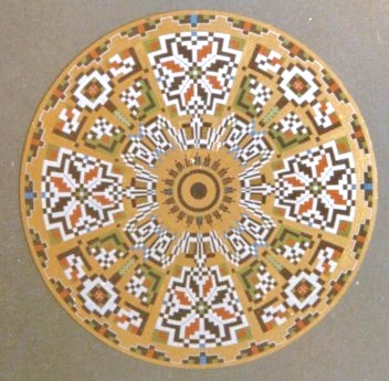 093 - Circle XXV - Tatra embroidery (Balcan popular art  [60x60]